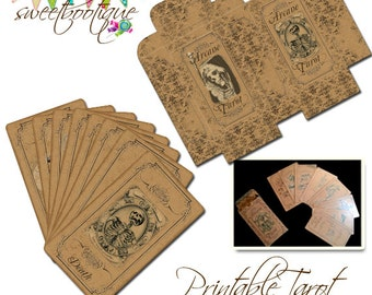 Full Gothic Tarot Card Set - 78 cards - Printable - Instant Download - Now on SALE