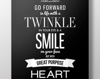 inspirational quote poster black white motivational lds