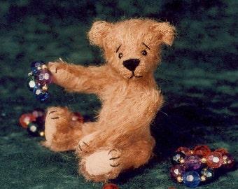 Artist Miniature Teddy Bear PDF Sewing Pattern - Angus