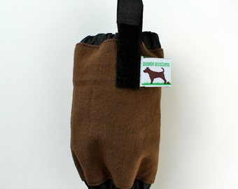 Dog Poop Bag Dispenser - Poo Bag Holder - Eco Friendly, Recycle Your Shopping Bags - Brown