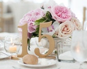 Shabby Chic Table Numbers for Wedding Party Decor Wedding Decor for Wedding Table Numbers, Gold Wooden Freestanding Numbers (Item - NUM120)