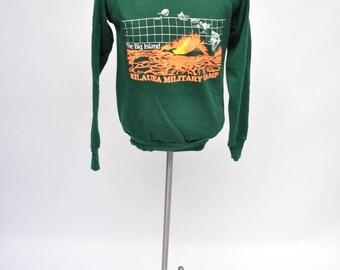 vintage sweatshirt KILAUEA MILITARY CAMP the big island 1985 medium