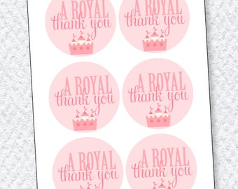Pinkalicious Princess Party PRINTABLE Birthday Favor Tags from Love The Day