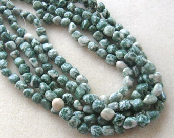 Gemstone Beads, Tree Agate,  Pebble Beads, Craft Supplies, Jewelry Supplies, Bead Supply, Jewelry Making Beads, Agate Beads, Necklace Design