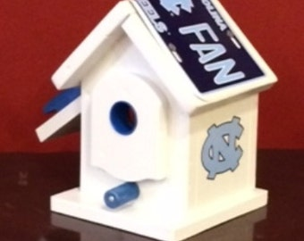 UNC-Carolina White Birdhouse Built To Order