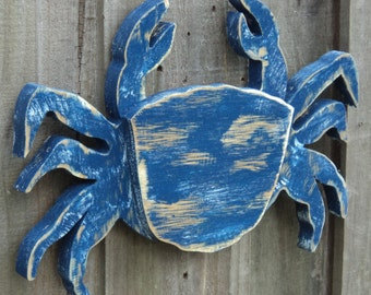 Small Crab, Coastal Gift, Coastal Living Room, Crab Decor, Coastal Wall Art, Wall Art, Wood Crab, Nautical Decor, Beach Art, Crab Lover