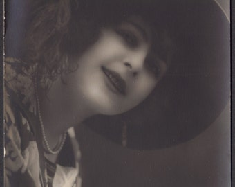 Lovely French Model in Feathered Hat, by Ketty, circa 1920s