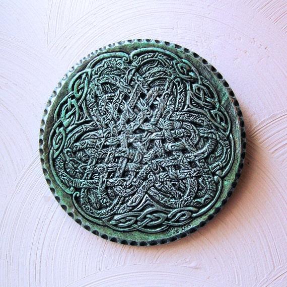 Irish Ribbon Celtic Knot Art Stone Art Sculpture Irish Home