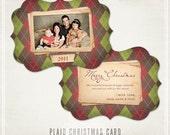 Plaid Ornate Christmas Card Templates