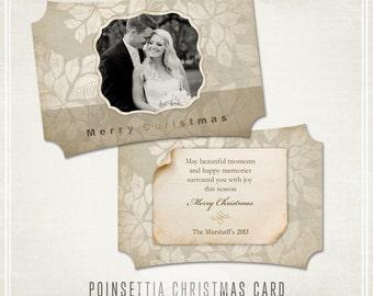 Poinsettia Christmas Card Template