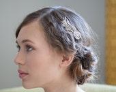 Bridal Hair Comb - Wedding Hair Comb - Crystal Feather comb - Art Deco comb - Bridal  headpiece