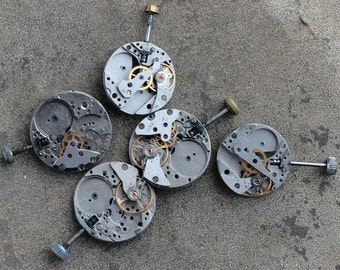 Vintage watch movements -- set of 5