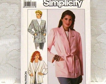 Simplicity 8803 - Misses Unlined Jacket Pattern - Sizes 14, 16, 18, 20 - Easy to Sew