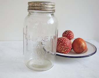 1940s Kilner Preserving Jar with Lid, Medium Size, Rustic Kitchen, Pantry Storage, Farmhouse Decor, Cottage Decor, 40s Home, Bathroom Decor