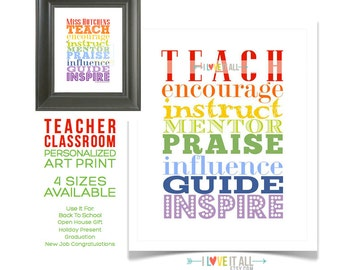 TEACHER Appreciation Gift, Teacher Gift, Teacher Printable, Classroom Decor, Gift for Teacher, Thank You Teacher, Personalized