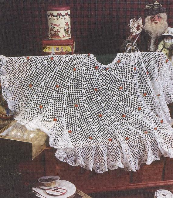 items similar to christmas tree skirt crochet pattern christmas afghan crochet patterns on etsy. Black Bedroom Furniture Sets. Home Design Ideas