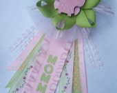 "Owl ""Mommy"" CORSAGE in pinks and greens"