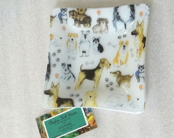 Fused Glass - Dogs Plate