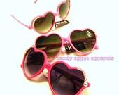 Heart Shaped Sunglasses, Rhinestone, Crystal Bling Glasses