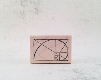 The Golden Ratio Math Stationary Rubber Stamp