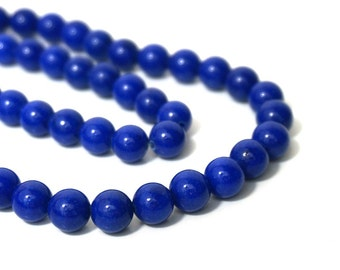 Mountain Jade, 8mm Round Gemstone beads,  Blue Lapis Candy Jade, Full & Half Strands available  (859S)