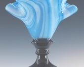 Fused Glass Lamp, Blue Accent Lamp