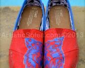 Team Spirit - Cheer Custom Painted TOMS Shoes