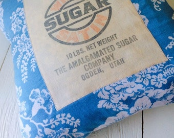 Sugar Sugar 6 Vintage Feed Sack Pillow Cover