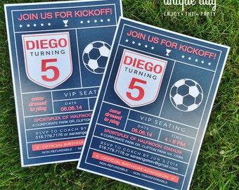 Soccer Birthday Invitation