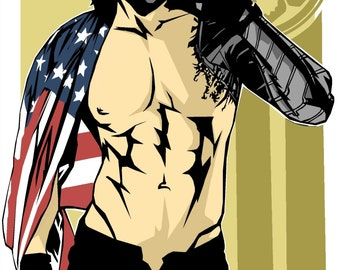 Winter Soldier Pin Up