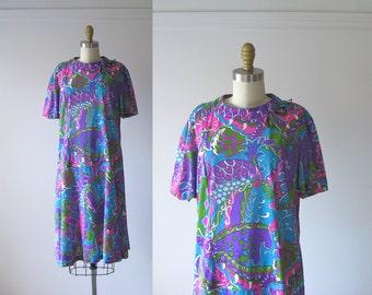 vintage 1960s dress / 60s dress / Optic Eye