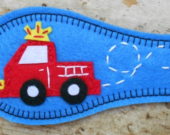 Eye Patch  - Fire Truck (also available in size small)