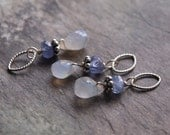 Moonstone and Tanzanite Charm Pendant