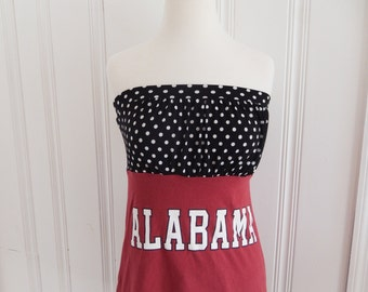 One of a Kind Gameday Shirt made w/ Alabama Tshirt - Small - On Sale and Free Shipping