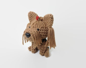 Yorkshire Terrier Amigurumi Dog Yorkie Handmade Stuffed Animal Crochet Puppy Plush / Made to Order
