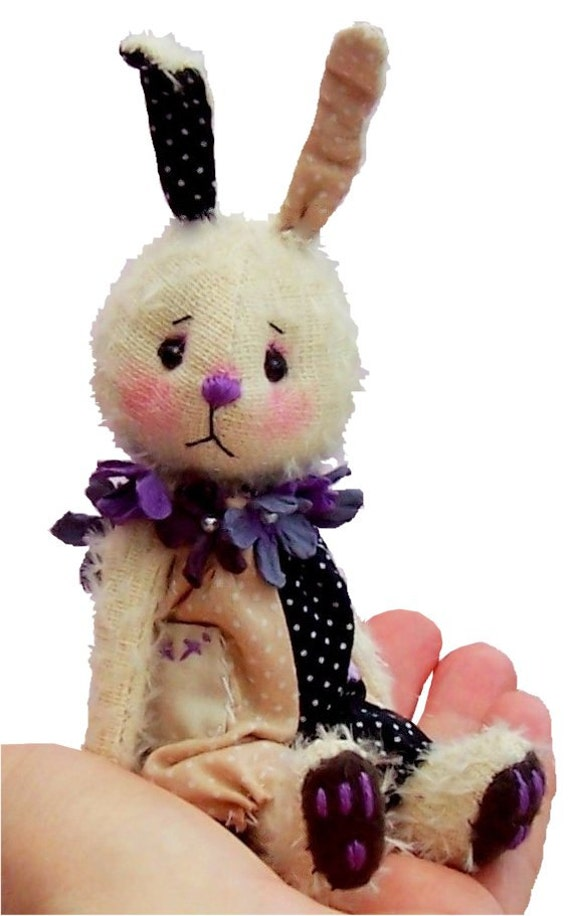 Bounce, mini mohair rabbit pattern (digital sewing patter for download)
