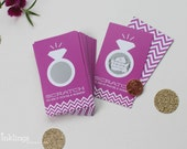 SALE! 24 Orchid Bridal Shower Scratch Off Cards // Bridal Shower Game // Bachelorette Party Games