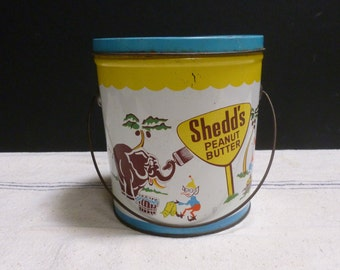 Vintage Shedd's Peanut Butter Tin