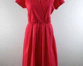 Watermelon Pink Picnic Day Dress