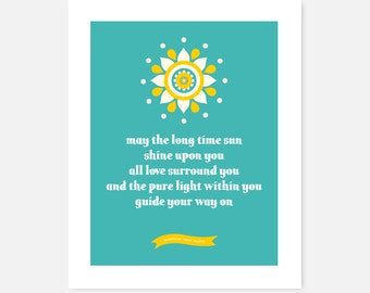 Yoga Art Print | Kundalini yoga | Sat Nam | Love | Long Time Sun | Prayer, Mantra, Blessing