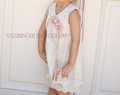 Ivory Lace Dress Size 6/7...Great for Tea Parties, Birthdays, Photo Shoots, Weddings and Dress up Dates