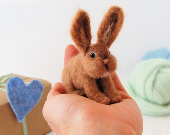 Needle Felted Animals. Needle Felted Bunny. Little Needle Felted Rabbit. Needle Felted Animal. Felt Animals. Felted Toy. Gift For Child