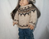 18 inch Doll Knitting Pattern PDF Icelandic Sweater and Tam Hat