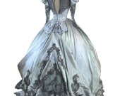 RESERVED for ANNA SABEY - Gothic Steampunk Victorian Vintage Gown / Dress Eco Friendly Upcycled