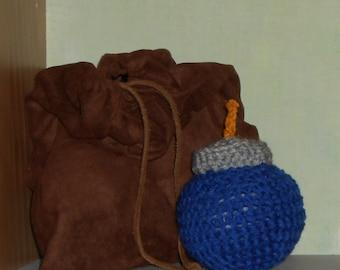 Bomg Bag with 3 Amigurumi Plush Bombs