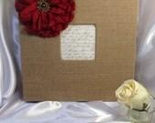 Burlap photo album, 280 Photos album, Rustic wedding, Photo album, Burlap wedding, Valentines, Bridal gift, Gift ideas for her, Burlap, Gift