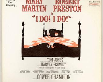 I Do I Do Starring Mary Martin and Robert Preston. Broadway Musical Show Original Cast Recording, 1966 RCA Victor LP Vintage Record Album