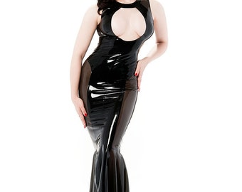 Jacqueline keyhole latex gown