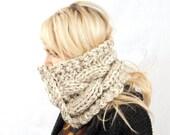PDF Knitting PATTERN - Super Chunky Braided Button Cowl