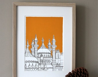 Brighton Pavilion Domes Art Print